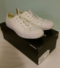 Unisex White Converse Chuck Taylor Lunarlon Trainers UK Size 7 cw Original Box