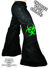 Cryoflesh Biohazard Cyber Goth Punk Rave EDC Tactical EBM Mens Phat Pants