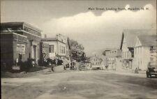 Meredith NH Main St. Looking North Stores Postcard