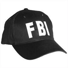 FBI NOIR BASEBALL CAP HAT TACTIQUE AGENT SPÉCIAL POLICE SÉCURITÉ ARMÉE USA