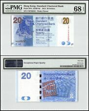 Hong Kong 20 Dollars, 2013, P-297c, UNC, Flower, PMG 68 EPQ