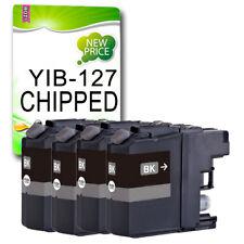 4 Black Ink Cartridge for LC127 MFC-J4510DW MFC-J4610DW MFC-J4710DW MFC-J4410DW