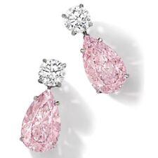 Women's Sparkling Gold Filled Cubic Zirconia Teardrop Dangle Stud Drop Earrings