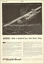 1943 WW2 aircraft  AD ARGUS FORWARDER Utility Cargo Plane Fairchild 040517