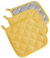 Design Imports DII Yellow Terry Potholder (Set of 3)