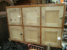 """Vintage unique Solid wooden pigeonhole Cupboard cupboards 45""""x 31"""" x 13"""" approx."""