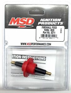 MSD 8211 MSD Ignition Red Firewall Feed Thru-Ignition Coil Feed through