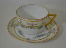 J & C BAVARIA GERMANY HAND PAINTED CUP AND SAUCER