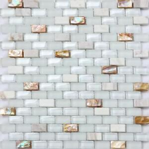 Mother of Pearl Stone & Glass Mosaic Wall Tile Sheet 300x300x8mm (MT0148)