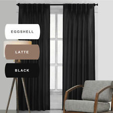 Polyester Solid Pleated Drapes