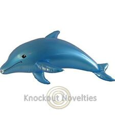 "40"" Inflatable Pearlized Dolphin - Blue"