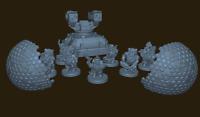 Tabletop Set Space Zwerge Last Stand 28mm für Warhammer 40k / Infinity o.Ä.