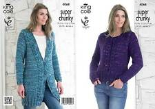 King Cole 4068 Knitting Pattern Jacket & Sweater in Gypsy Super Chunky
