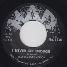 """BILLY THE KID EMERSON I Never Get Enough MAD Re.45 7"""" Thumpin 1962 R&B HEAR"""