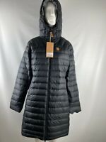 NWT Fjallraven Snow Flake Black Down Insulated Hooded Puffer Parka Womens Size M
