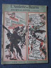 """L'ASSIETTE AU BEURRE   """" Journalistes """"  1903  Poulbot"""