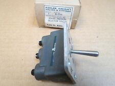 Static Pressure Selector Valve Kohler K1101 Hycar-80 Boeing p/n: 2115896 NOS