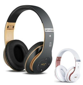 Wireless Bluetooth 5.0 Headphones with Noise Cancelling Over Ear Stereo Earphone