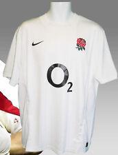 Rareza Nike Inglaterra Camiseta de Rugby 2011-2012 Blanco Nuevo con Etiquetas L