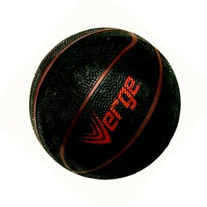 """Basketball 🏀 Mini 7"""" Black With Red Strips Kids Ball Toy Sports Excersize NEW"""