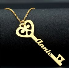 Key Name Choker Necklace Pendant Women Jewelry Gift Personalized Gold Silver