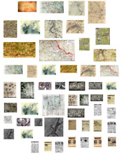 1/35 scale WW2 Maps, Aerial pics and newspapers decals.Model/diorama/soldier 1