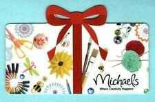 MICHAELS Red Bow & Craft Items 2011 Die-Cut Gift Card ( $0 )