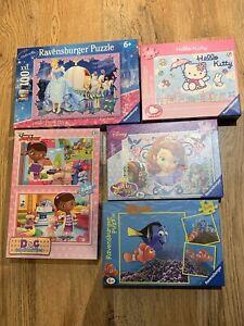 Childrens Jigsaw Puzzles X5 RAVENSBURGER Girls Kids Disney Princess Checked