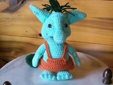 Adorable crochet 8 1/2 in green TROLL animal doll toy handmade