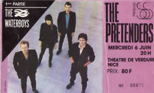 ticket billet used stub place concert THE PRETENDERS 1984 Nice FRANCE