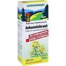 JOHANNISKRAUT SAFT Schoenenberger 200ml PZN 692162