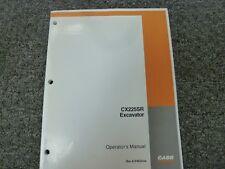 Case CX225SR Hydraulic Excavator Owner Operator Maintenance Manual Bur 6-34630na