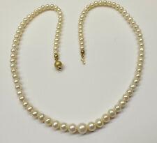 Perlenkette Perlencollier 585er Gold Verschluß  14 K Gelbgold Akoya Perlen