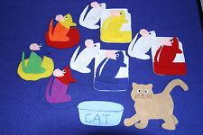 """""""Mouse Paint"""" Children story felt/ flannel board set"""