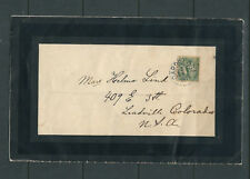 Sweden 1924 Mourning Cover sent from Gardslosa to Colorado Usa
