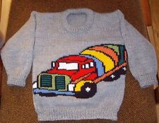 TRUCK  NEW HAND KNITTED SIZE 3 100% ACRYLIC EASY CARE