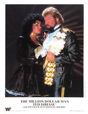 WWE TED DIBIASE & SHERRI OFFICIAL LICENSED AUTHENTIC 8.5X11 ORIGINAL PROMO PHOTO