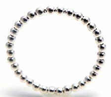 2MM Sterling Silver 925 Shiny Sphere Balls Bead Stacking Ring Skinny Band Size 8