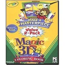 CRAYOLA Make A Masterpiece And Magic 3D Coloring Book Brand New In Box