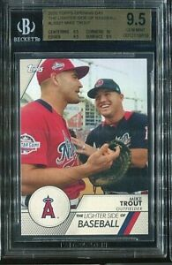 2020 Topps Opening Day The Lighter Side of Baseball #LSB21 Mike Trout SP Beckett