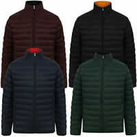 Tokyo Laundry Men's Funnel Neck Quilted Puffer Jacket Puffa Bubble Coat Padded