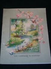 """Booklet titled """"THE GATEWAY TO NATURE"""" Advertising for """"The Nature Library"""""""