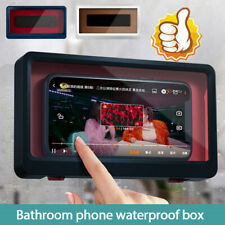 Waterproof Phone Holder Case Bathroom Toilet Shower Wall Mounted Stand Universal