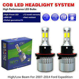 COB led light bulbs headlights White 6500K High/Low fit 07-14 Ford Expedition