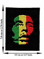Bob Marley Music Reggae Rasta Song V05 Logo Applique Iron on Patch Sew