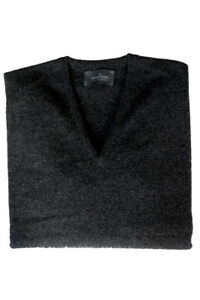 The Wardrobe Sweater: Small Charcoal, v-neck, pure lambswool