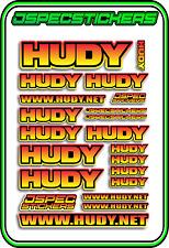 HUDY TOOLS SETUP STICKERS XRAY RC BUGGY CAR DECAL 1/10 1/8 JSPEC ELEC YEL PNK B
