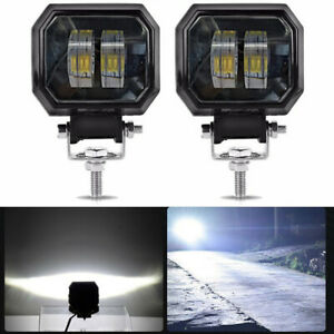2Pcs 3inch 20W LED Car Offroad LED Work Light Pod Spot Beam Fog Light IP68