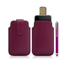 Housse coque étui pochette rose fuschia pour Apple Iphone 3G/3GS + Stylet
