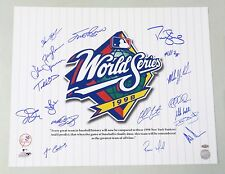 0728-70 1998 WSC Yankees Team Signed 16x20 Photo 18 AUTO 's LEAF COA